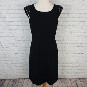 Tahari Arthur S Levine Sleeveless Black Dress LBD